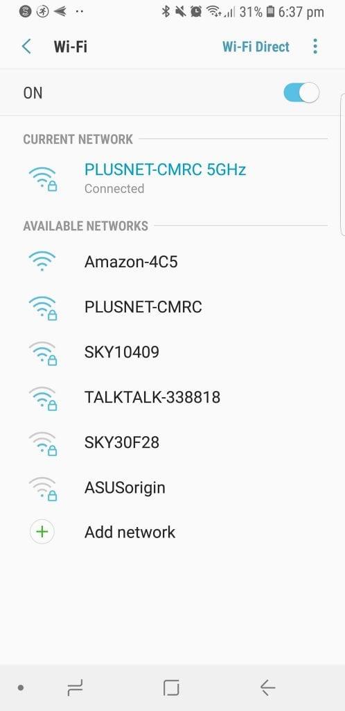 Wifi selection Amazon Alexa