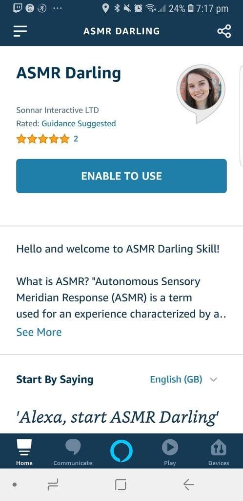 Alexa Enable Skill