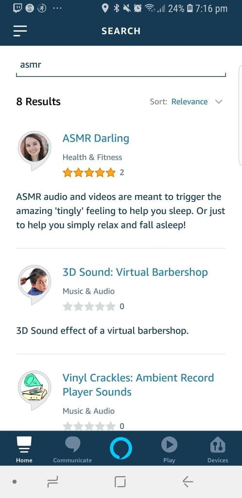 Alexa Search Skills