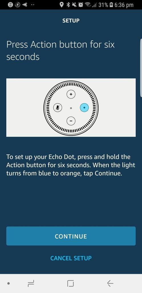 Orange Light Amazon Echo