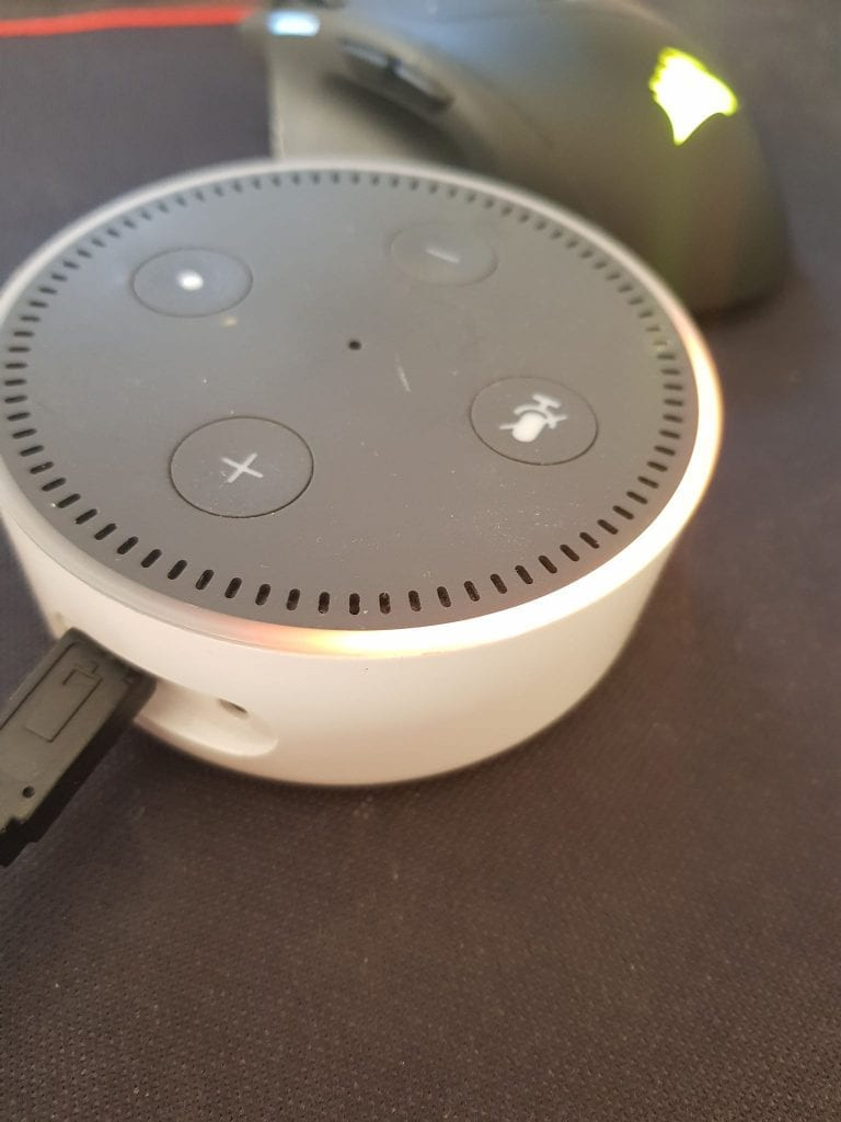 Amazon Echo Dot Orange Light